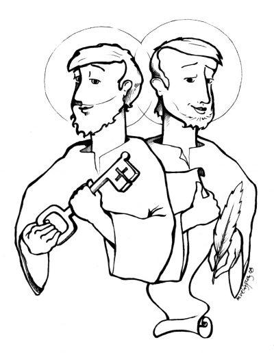 Dabar dibujos San Pedro y San Pablo