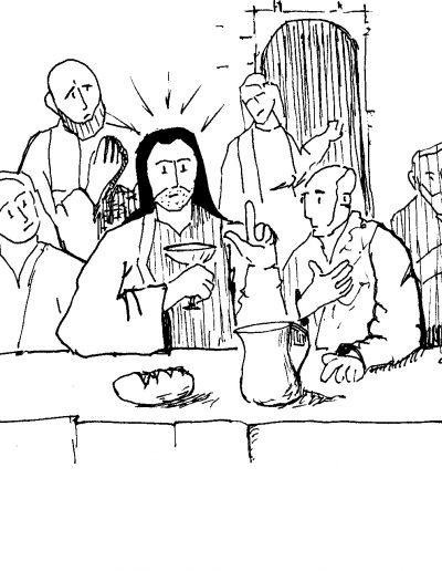 Dibujos Dabar Jueves Santo